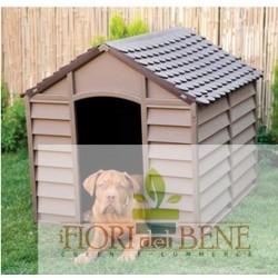 Cuccia cani PVC beige scuro e marrone