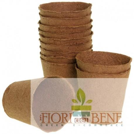 Vasi torba tondi 8 cm biodegradabili 100%