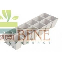 Vasi torba quadrati 6 x 6 cm ( vassoio da 12 pezzi) biodegradabile 100%