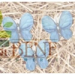 Farfalla 4.5 cm azzurra in cartoncino piantabile