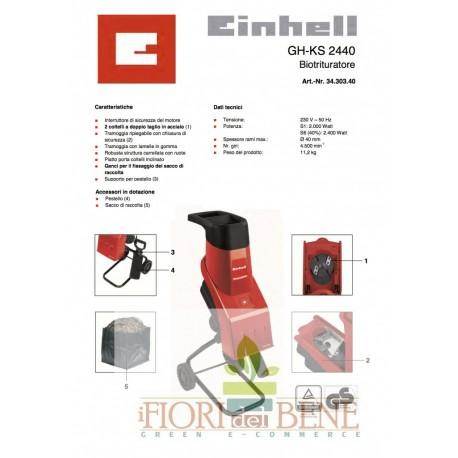 Biotrituratore elettr. EINHELL Mod. GH-KS 2400