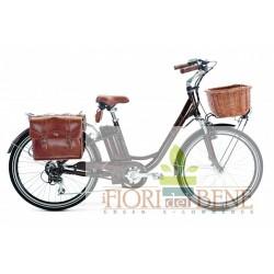 Bicicletta elettrica pedalata assistita Crystal Retro World dimension