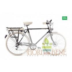 Bicicletta elettrica pedalata assistita Bike and the city Man World dimension