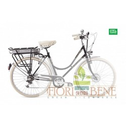 Bicicletta elettrica pedalata assistita Bike and city Lady World dimension