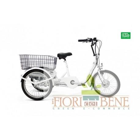 Bicicletta elettrica a tre ruote pedalata assistita Liberty World dimension