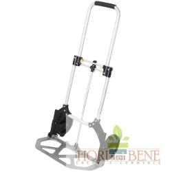 Carrello porta pacchi pieghevole in alluminio con ruote in gomma