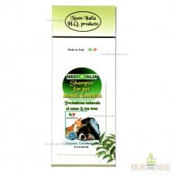 Shampoo biologico 250 ml per cani, gatti e piccoli animali domestici al neem e tea tree proteziona naturale contro i parassiti