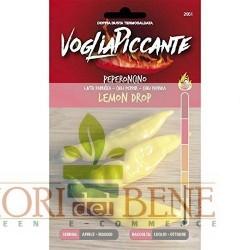 Semi di peperoncino giallo Lemon drop Ljuta Papricica Dotto Sementi Linea Voglia Piccante