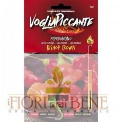 Semi di peperoncino Bishop Crown Capsicum Baccatum Dotto sementi Linea Voglia Piccante