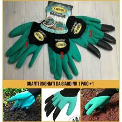Guanti da giardino 1 paio + un guanto unghiato per scavare